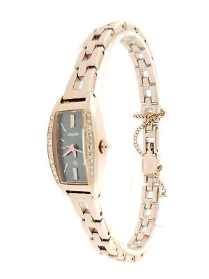 Orient Black Mother of Pearl Lady's Rose Gold FUBTS001T0