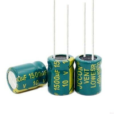 10V 1500uF High Frequency LOW ESR Radial Electrolytic Capacitors 105°C 10x13mm