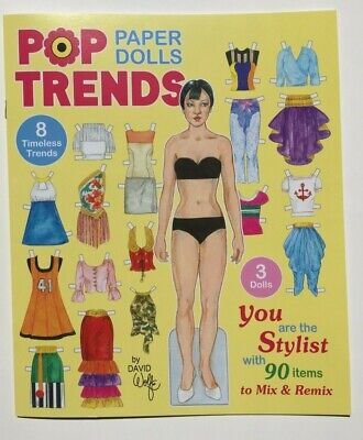 **NEW!** POP TRENDS PAPER DOLLS - 90 Items to Mix and Remix by David Wolfe