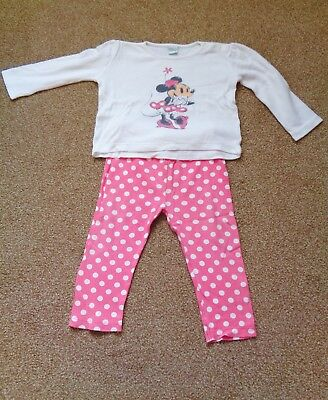 abadf83e108 Disney Girls Long Sleeve Minnie Mouse Top & Leggings Outfit. Age 12 - 18  months