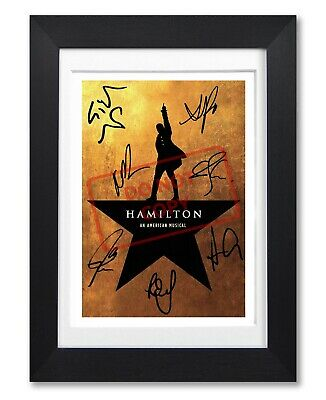 Hamilton An American Musical Cast Signed Poster Print Photo Autograph Flyer Gift