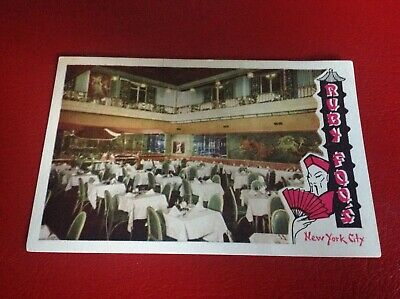 Postcard Ruby Foos Restaurant in New York City Chinese Food that's Different 52n
