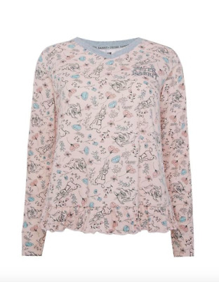 Peter Rabbit Floral Pink Pyjama Jumper UK Size 6-8 Small