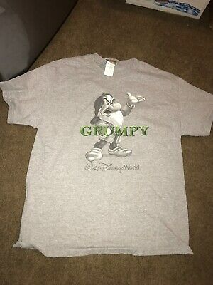 Walt Disney World Grumpy Snow White And The Seven Dwarfs Gray T Shirt Size L