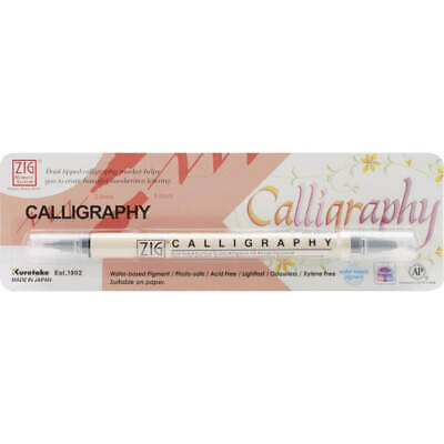 ZIG Memory System Calligraphy Dual-Tip Marker (Packaged) - Pure Black