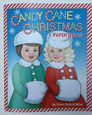 *NEW!* CANDY CANE CHRISTMAS Paper Dolls - Super cute! By Eileen Rudisill Miller