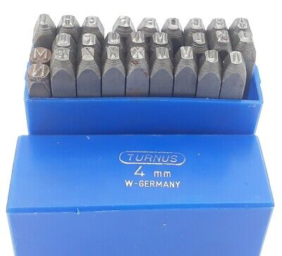 Turnus Letter Stamps Set 4mm Letter Stamp Steel Iron