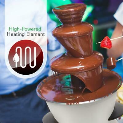 NutriChef PKFNMK16 Three Tier Electric Chocolate Fondue Dipping Fountain