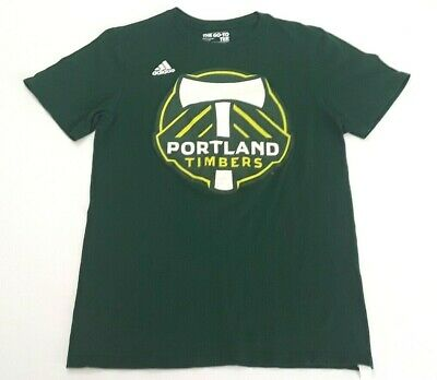 Adidas Portland Timbers Green Graphic Cotton T-Shirt MLS Soccer Men's Small
