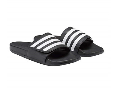 NEW - Adidas Men's Adilette Slides Sandals Slide Slip-On Black White - PICK SIZE