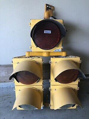 Large McCain Traffic Supply,  5 LED Traffic Light Signal W/ two turning arrows
