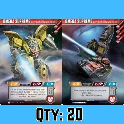 (Qty: 20) Rare Omega Supreme Autobot Transformers Trading Card Exclusive TCG