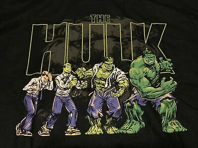 The Incredible Hulk in Stages Marvel Exclusive Funko Pop Black T-Shirt Adult M