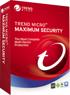 Trend Micro Maximum Security 2019 Multi Device 5 Devices 3 Years Download ESD