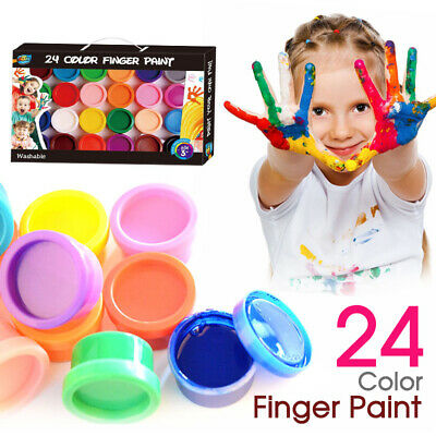 22ml Washable 24 Color Finger Paint Non-toxic Good for Kids Artwork and Creation