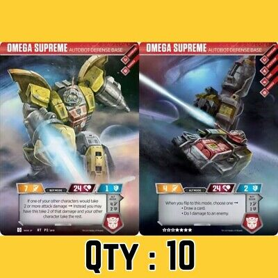 (Qty: 10) Rare Omega Supreme Autobot Transformers Trading Card Exclusive TCG