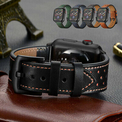 Apple Watch Band, iWatch Series 5 4 3 Dots Genuine Leather Strap 42/44mm 38/40mm