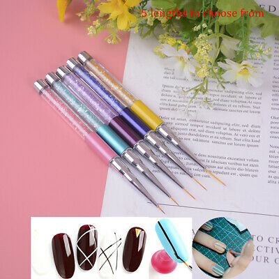 Nail Art Line Brush Ultra-Thin Line Drawing Acrylic Manicure Nails Design T E EB
