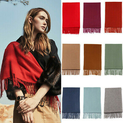 Australia UGG Pure Wool Scarf with Fringe Wrap, 168CM x 30CM