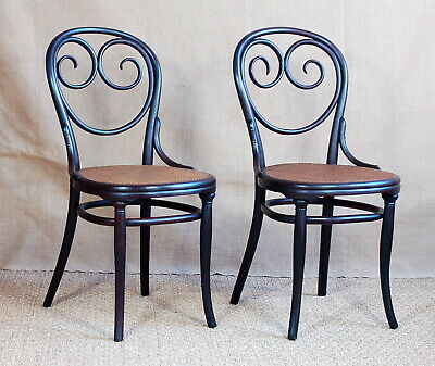 Pair of Chairs bar Viennese Thonet No ° 2 Stamped End Xixth Art Nouveau