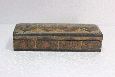 Burmese Wooden Jewellery Box Antique Rare Old Vintage Decor Collectible PV-79