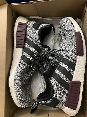 new concept f8438 fdab4 ADIDAS NMD R1 Champs Exclusive Grey Static Wool Burgundy Size 9.5 B39506