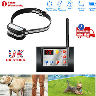 300m IP65 Rechargeable Wireless Dog Pet Electric Fence Training Collar Receiver
