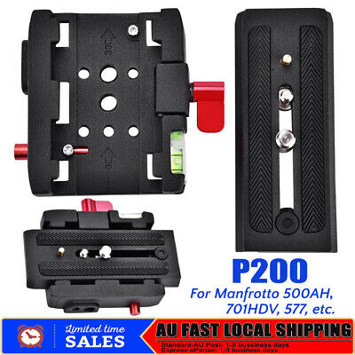 P200 Quick Release Clamp + QR Plate for Manfrotto 501 500AH 701HDV 577 AU STOCK