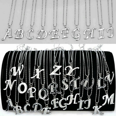 Fashion Stainless Steel Letter A-Z Jewelry Necklace Pendant with Extender Chain