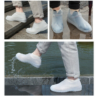 Silicone Overshoes Rain Waterproof Shoe Covers Transparent L
