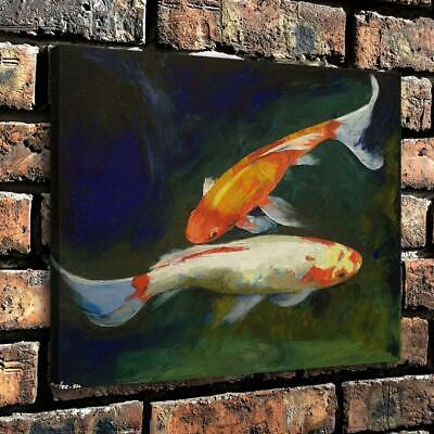"""koi Fish Home Decor Room HD Canvas Print Picture Wall Art Painting  16""""x22"""""""