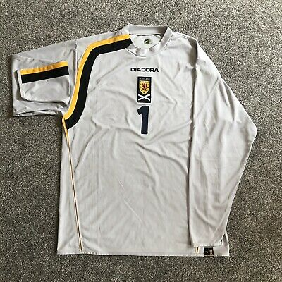 Scotland 05-07 Diadora Match Worn Issue Goalkeeper Home Goalie Shirt #1