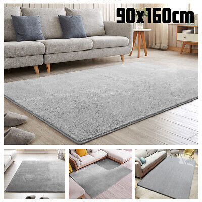 Large Fluffy Rugs Anti-Skid Shaggy Area Rug Dining Room Carpet Floor Mat Home