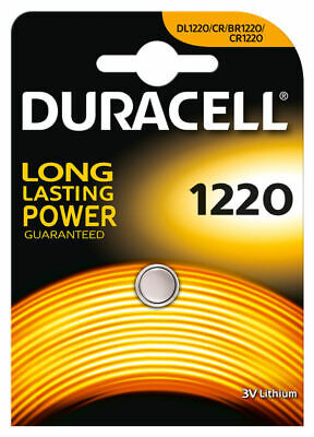 2 × Duracell 1220 3V Lithium Coin Cell  Long Lasting Batteries DL 1220 BR 1220