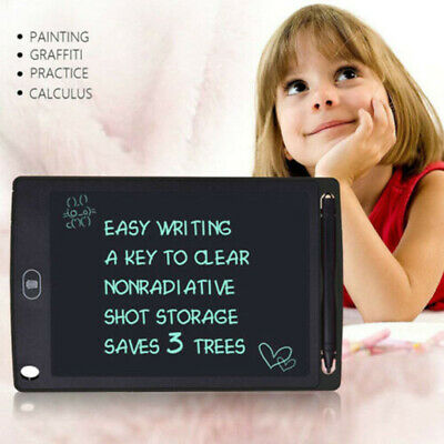 """8.5""""LCD Message Doodle Pad Writing Board Kids Painting Drawing Tablet+Stylus Pen"""