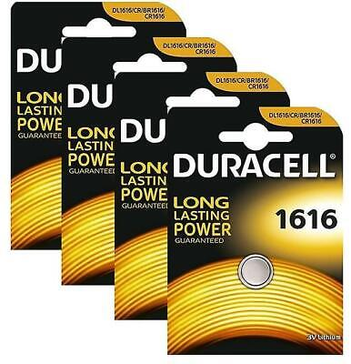 2 × Duracell 1616 3V Lithium Coin Cell  Long Lasting Batteries DL 1616 CR 1616