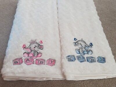 Gorgeous Elephant Beautiful  Boy Girl Personalised Embroidered Baby Blanket Gift