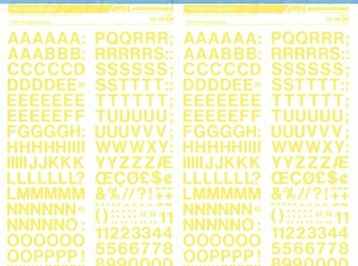semi transparent yellow 10mm MECANORMA DRY NUMBER TRANSFERS CHIFFRES