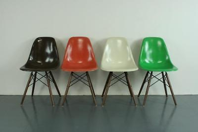 VINTAGE EAMES DSW CHAIRS HERMAN MILLER 50s 60s MIDCENTURY AUTUMN COLOURS #2089