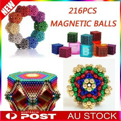 216Pcs 3mm 5mm Magic Magnets Ball Neodymium Sphere Puzzle Cube Stress Relief