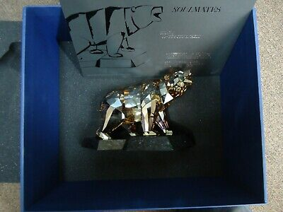 Large  Swarovski SCS Crystal Soulmates Bear 1037053 SIGNED By Artist retired
