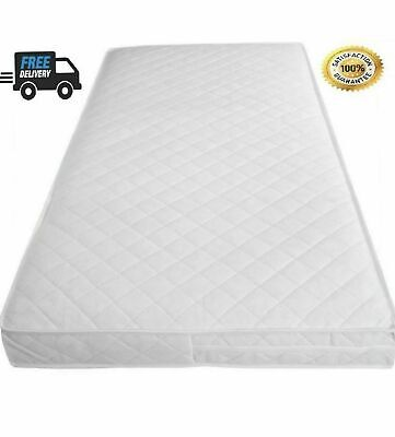 Baby Toddler Cot Bed Quilted & Waterproof Breathable Soft Mattress All sizes UK