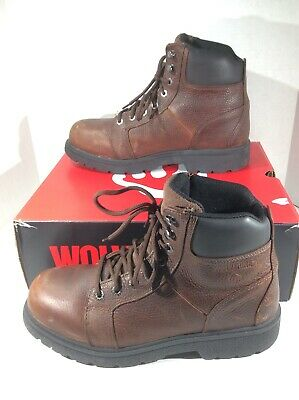 8209543cffe WOLVERINE MENS MANAWA Brown Leather Work Safety Boots Shoes Size 11.5  F10-186