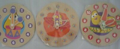 BBC Cbeebies My First Wooden Learning Clock. Fun & Educational For Kids Children