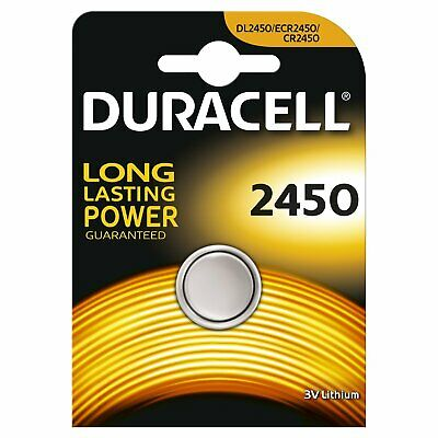 2 x Duracell 2450 3V Lithium Coin Cell Long Lasting Batteries CR2450 DL2450