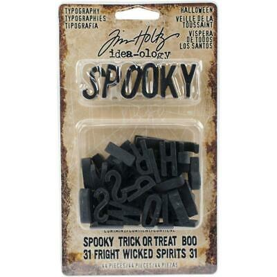 Tim Holtz Idea-Ology - Typography - Black 3D Alphabet - 44 Pieces