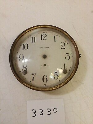 Antique Seth Thomas  Mantle Clock Dial & Bezel & Glass From 89 Al Movement