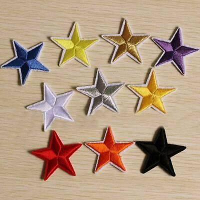 Star Embroidery Sew Iron On Patch Badge Clothes Applique Bag Fabric Xmas Sale