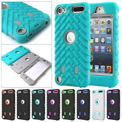 For iPod Touch 6th Gen Case 5th Shockproof Rugged Hybrid TPU Rubber Armor Cover