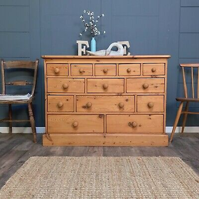Apothecary style multi drawer Pine Chest of Drawers, Country Rustic drawers
